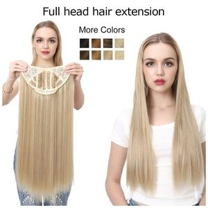 """✨24"""" 613 BEACH BLONDE UPART CLIP IN EXTENSIONS NWT"""